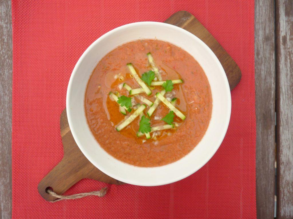Španělské gazpacho - studená polévka - Ochutnejte svět