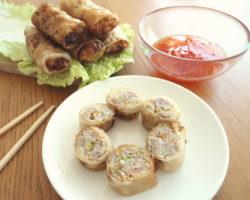 Vietnamské jarní závitky s mletým masem Chả giò