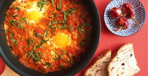 Pikantní arabská snídaně – SHAKSHUKA
