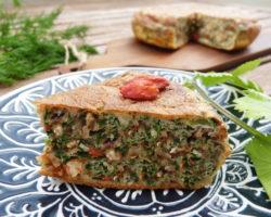 Íránská bylinková omeleta s ořechy KUKU SABZI