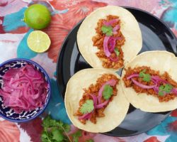 Mexické tacos s trhaným vepřovým masem PUERCO PIBIL