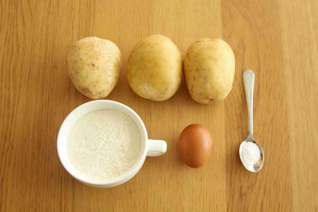 Ingredience na bramborové gnocchi - Ochutnejte svět