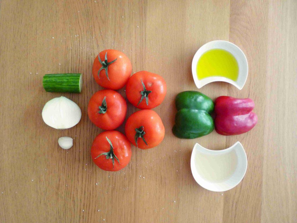 Ingredience na španělské gazpacho - Ochutnejte svět