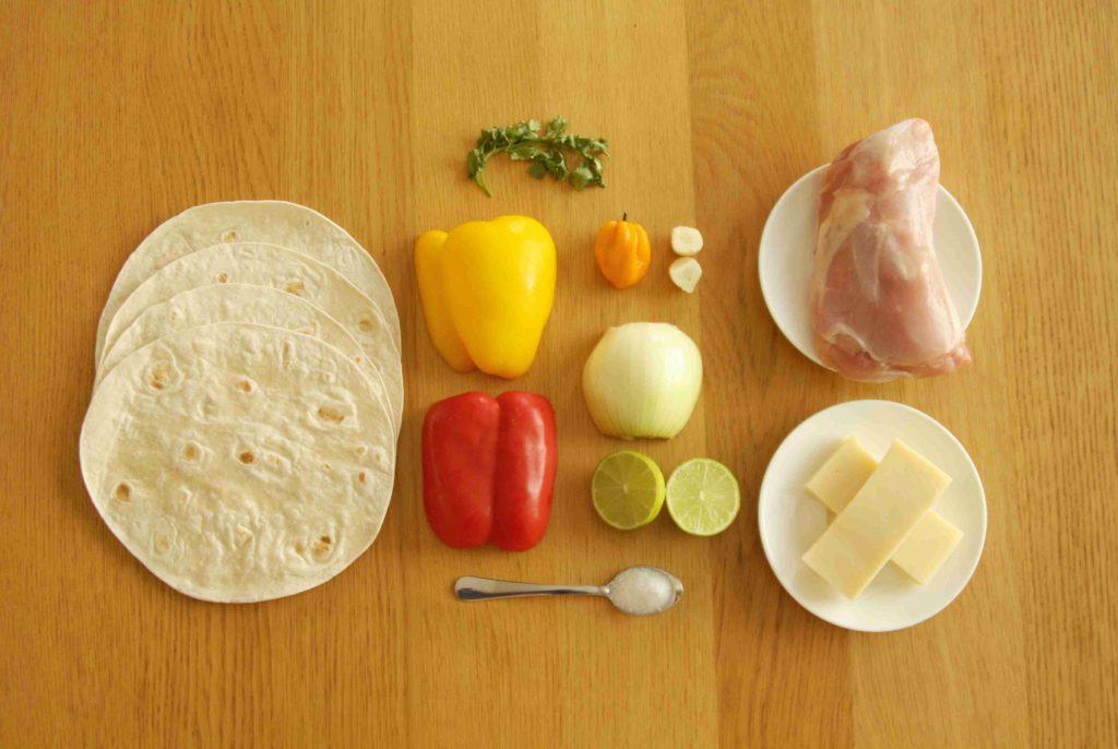 Ingredience na mexické quesadillas - Ochutnejte svět