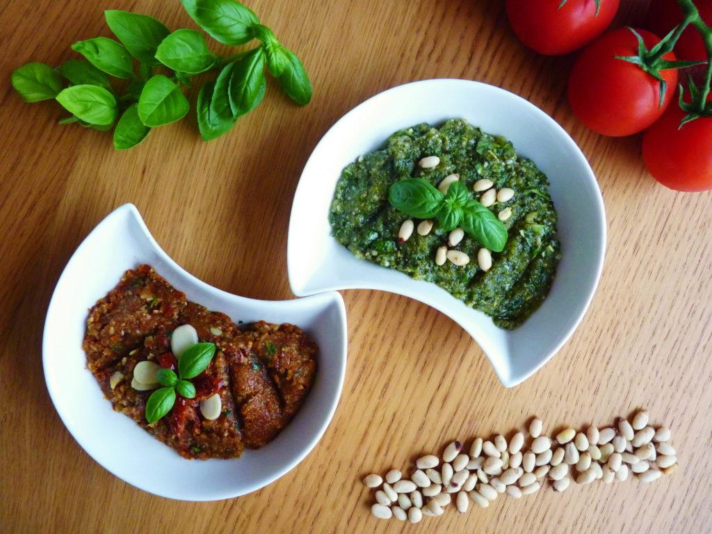 Červené a zelené bazalkové pesto - Ochutnejte svět