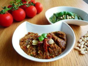 Rajčatové PESTO ROSSO s bazalkou a sušenými rajčaty
