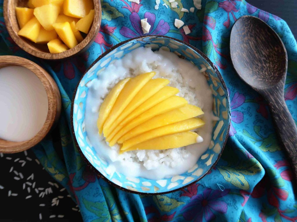 Mango sticky rice - thajská lepivá rýže - Ochutnejte svět