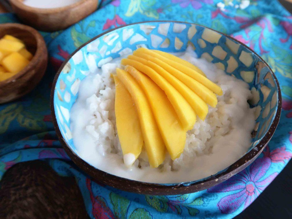 Mango sticky rice - thajská rýže s mangem - Ochutnejte svět