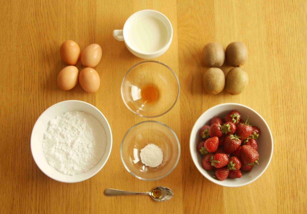 Ingredience na dort Pavlova - Ochutnejte svět