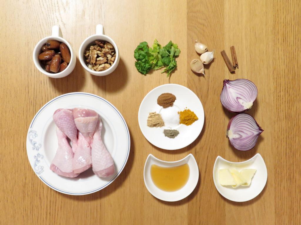 Kuřecí tažín - ingredience - Ochutnejte svět