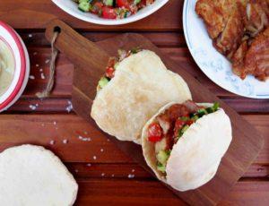 KUŘECÍ SHAWARMA v pitě: příprava na stolním grilu