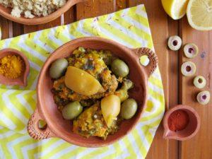 Marocký kuřecí tažín s citrony MCHERMEL