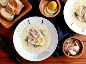 Řecká kuřecí polévka KOTOSOUPA AVGOLEMONO