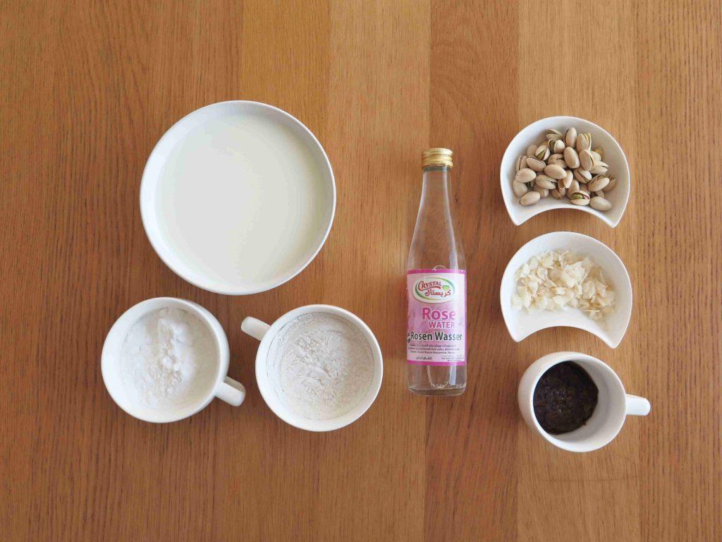 Izraelský pudink malabi - ingredience - Ochutnejte svět
