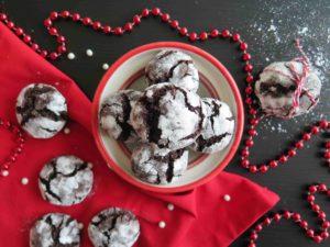 Čokoládové CRINKLES: Vánoční popraskané cookies