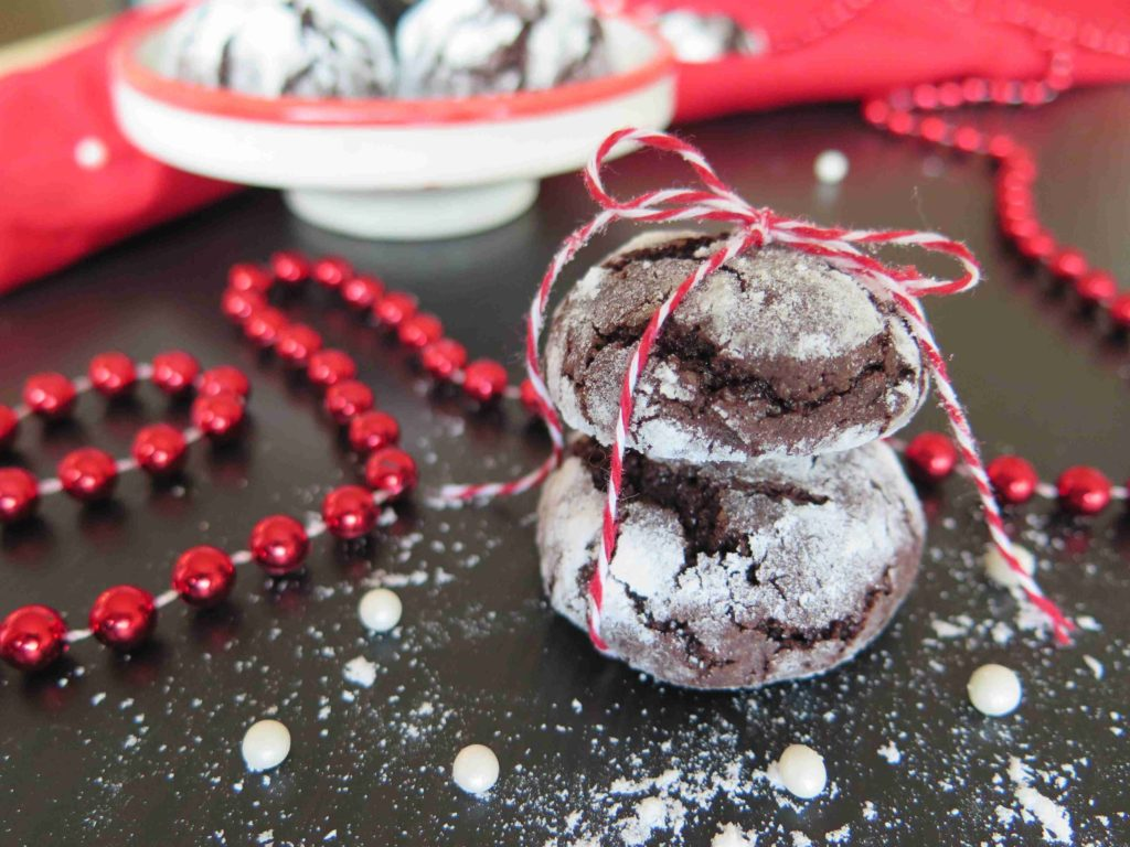 Čokoládové CRINKLES - vláčné sušenky obalené v cukru