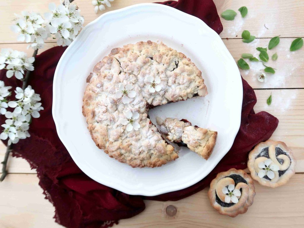Sbriciolata alla marmelatta - italský drobenkový koláč